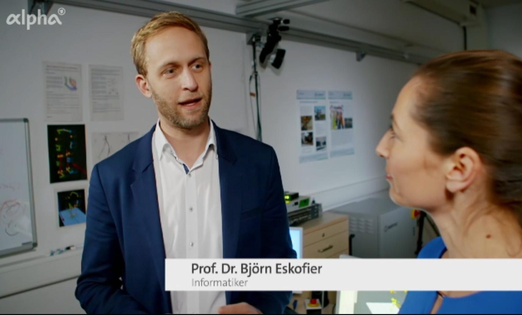 Prof. Dr. Björn Eskofier auf BR Alpha